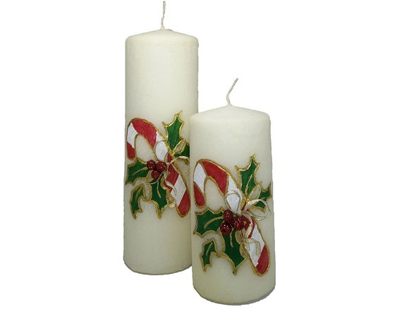 Christmas candle candle pillar candle wax by prestigecandleco for Christmas pillar candle holders