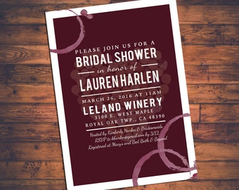 Wine themed bridal shower Etsy
