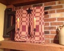 "Early Country Handmade Primitive Look Wooden Blanket Crane Painted Black 36"""