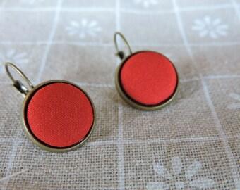 Fire - red bon - bon earrings