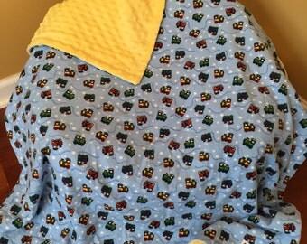 Choo Choo Trains Snuggle Flannel Blanket