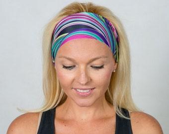 No Slip Headband Running Headband Yoga Headband Workout Headband Spandex Headband Wicking Headband Turban Headband Wide Headband