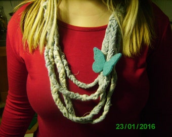 recycled cotton necklace