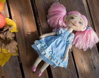 Textile doll Emma