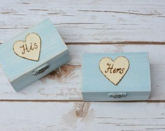Wedding Ring Box Set Mr and Mrs Ring Box RIng Bearer Holder