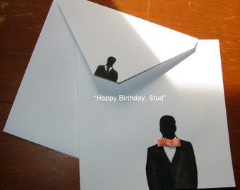 "Birthday Card - ""Happy Birthday, Stud"""