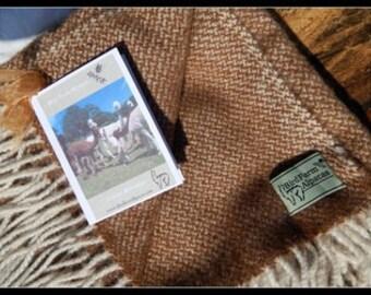 Dark Fawn (natural colours) Woven 100% Alpaca Blanket