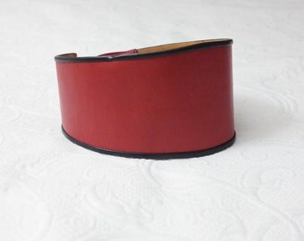 Belt woman retro vintage - leather Red