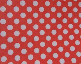 Spot On - Coral Yardage by Robert Kaufman Fabrics (1.42 Yards)