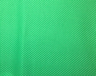 Green and white holiday fabric