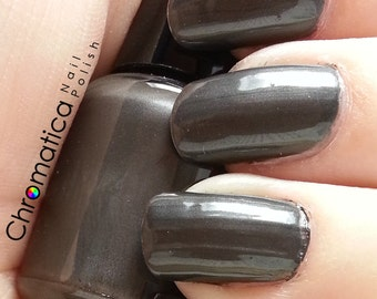 Frank's Hardware-Handmade, Gunmetal, Grey, Opaque, Nail Polish, 5ml Mini Bottle, Indie Polish, Perfect for Halloween