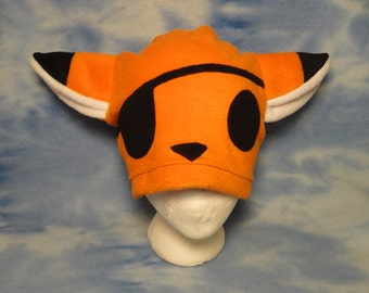Orange Pirate Fox Hat Fleece