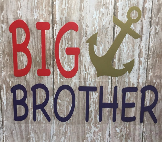 Big Brother or Little Brother Iron on Decal/DIY Big Brother/Little Brother Shirts/ DIY Little Brother Onesie
