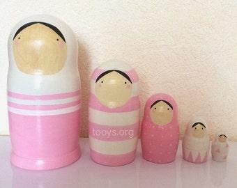 Nesting dolls. Matryoshka dolls. Russian dolls.