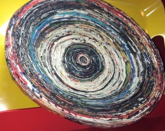 Handcrafted Art-piece, Magazine Bowl.
