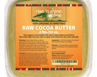 Bulk Raw Cocoa Butter (32 oz) Perfect for All Your DIY Home Recipes Like Soap Making, Lotion, Shampoo and Hand Cream
