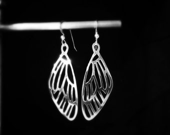 Cicada Wing Earrings in Sterling Silver