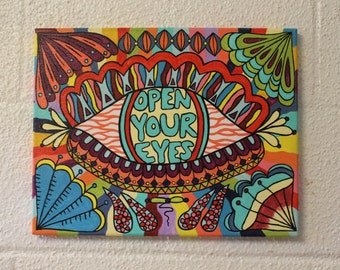 Open Your Eyes canvas painting