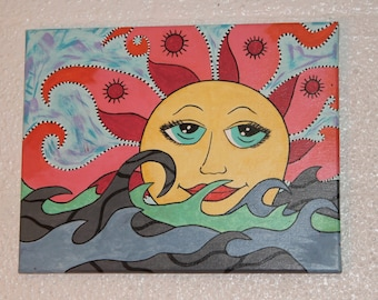 Sun and Sea canvas painting