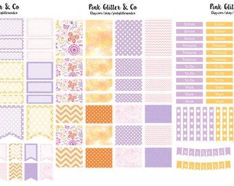 Printable Pink and Orange Kit for Plum Paper Planner