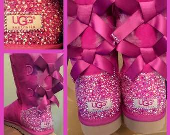 Custom orders for Bailey Bow Uggs with Swarovski Crystals