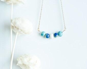 Ceramic Beads Necklace - ocean five