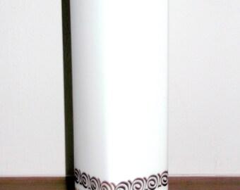 Heinrich & Co. 1960/70s White Modernist/minimalist Retro vintage Porcelain SELB W. Germany VASE