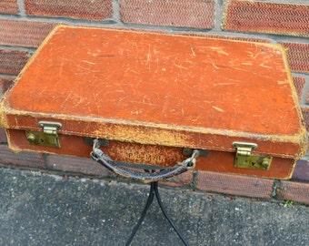 Vintage Retro Brown Leather Briefcase