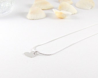 Heart I I delicate necklace 925 Silver