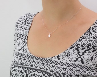 Star I delicate necklace I Silver 925