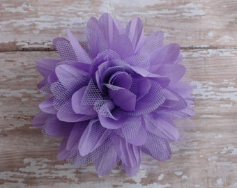 Purple Lilac Flower Hair Clip Baby Toddler Child