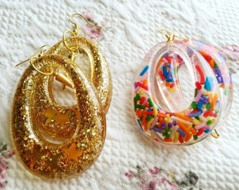 Candy Sprinkle Hoops Colorful Hoops