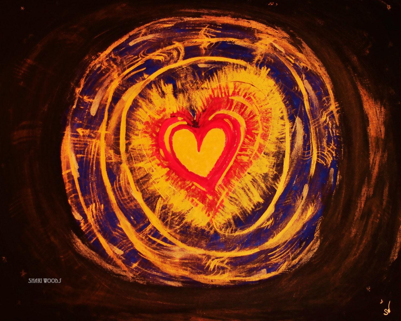 Love Portal Fine Art Print Energy Art Meditation lead Art