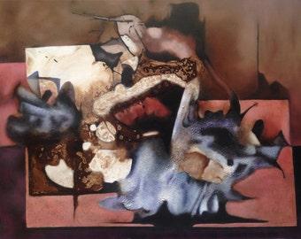 "Abstract painting ""Pilgrim light"" - Manuel Felguerez"