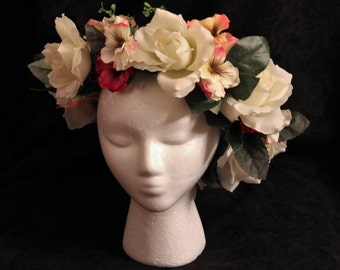 Floral Crown, Headdress -free shipping in U.S.
