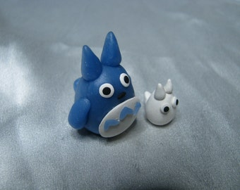 MADE TO ORDER**Blue Totoro-White Totoro-Chuu/Chibi Totoro-Polymer Clay Totoro-Totoro