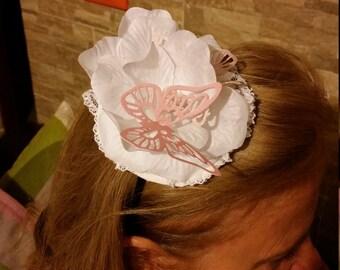 Headband with butterflies