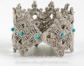 Crochet Beaded Wide Bracelet Pattern - Festival Boho jewelry - Unique crochet jewelry tutorial- Celtic Bracelet - PDF instant download