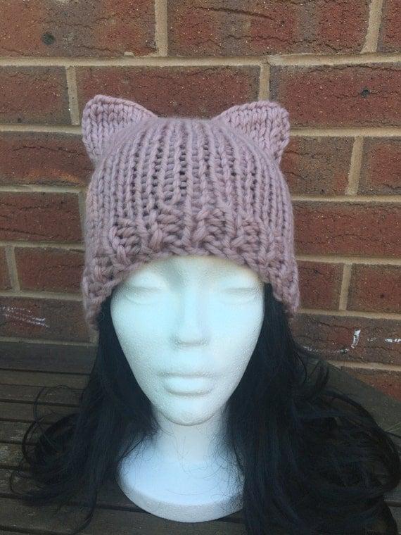 Knitting Patterns For Rowan Big Wool : Rowan Big Wool Cat Ears Knitted Hat PATTERN instant by EazyKnitz