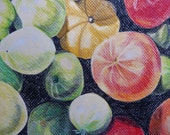 Original Colored Pencil Drawing Tomatos