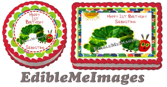 Hungry Caterpillar Edible Cake Topper