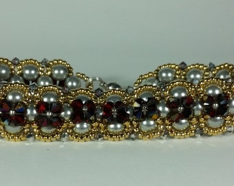 Crisscross Crystal Bracelet