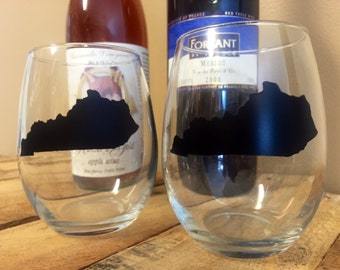 Kentucky Chalk Wine Glass Set
