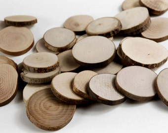 30 Small Wood Slices~  1 to 1.4 inch /2.5 to 4.5 cm/~ Tree Slice