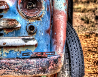 Colors of an Old Truck #1: Still life art photography prints for home or office wall decor.