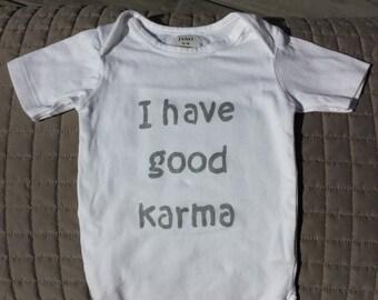 Good Karma baby Onesie