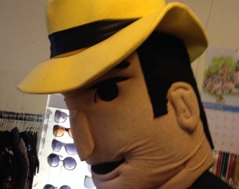 The Man with the Yellow Hat Curious George friend Mascot Head