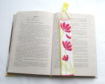 Bookmark. Embroidered tab for books