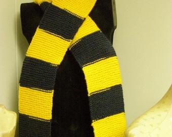 Yellow & Blue/Michigan Colors Handmade Scarf