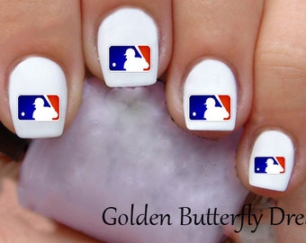 1019 Baseball Waterslide Nail Art Decals Enough For 2 Manicures